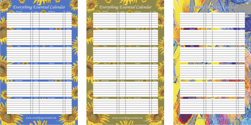 Everything Essential Birthday and Anniversary Calendar Calendars